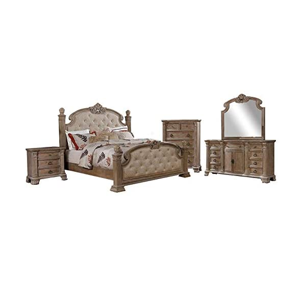 William's Home Furnishing Montgomery Platform, Queen, Rustic Natural