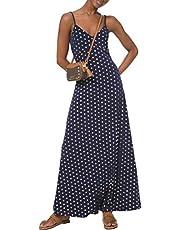 MICHAEL KORS Womens Navy Printed Spaghetti Strap V Neck Maxi Fit + Flare Dress AU Size:14