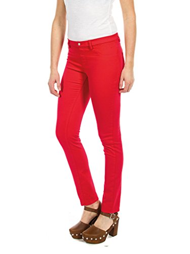 Vaqueros Rojo para Skinny Carrera Jeans Mujer U0xn5f