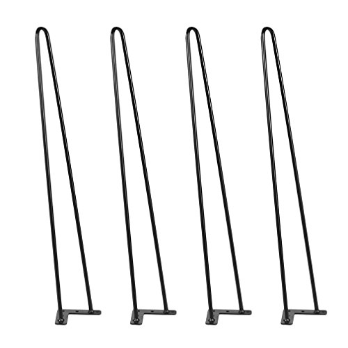 Black Hairpin Legs with Pre-drilled Holes, Set of 4 Coldcedar Premium 22