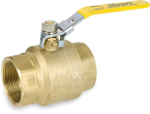Sharpe Valves 1011TTE Series Brass Ball Valve, Inline, Lockable Lever Handle, 1-1/2