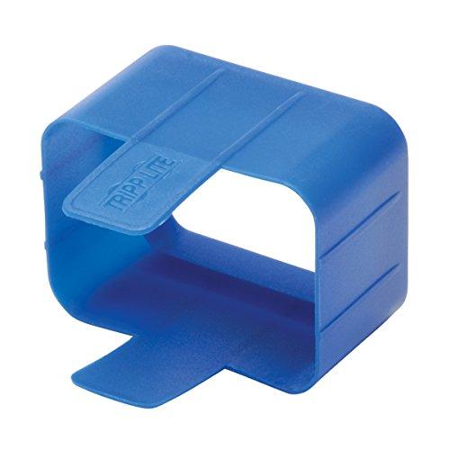 Tripp Lite PLC19BL PDU Plug Lock Connector C20 Power Cord to C19 Outlet - 100 Pack, Blue (Power C19 Plug)