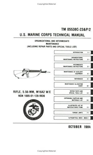 u s marine corps rifle 5 56mm m16a2 technical manual department rh amazon com
