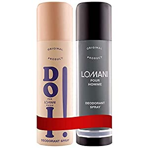 Lomani Combo Pack (Do It Deo + Lomani Pour Homme Body Spray Deodorant) for Men