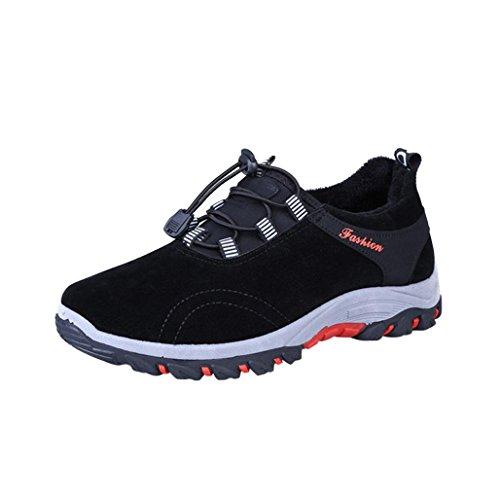 UOMOGO? Scarpe da Ginnastica Sneakers Respirabile Mesh Basse Sportive Outdoor Tennis Running Donna Uomo Unisex Adulto (Asia 40, Nero)
