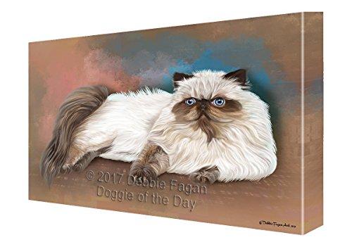 Himalayan Cat Art - Himalayan Cat Painting Printed on Canvas Wall Art (16x20)