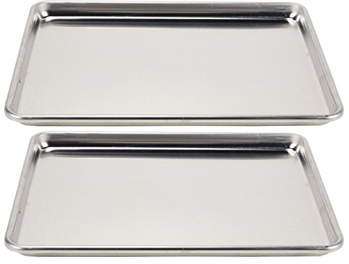 Vollrath 2-Piece Wear-Ever Half-Size Sheet Pans Set, 18-Inch x 13-Inch, Aluminum