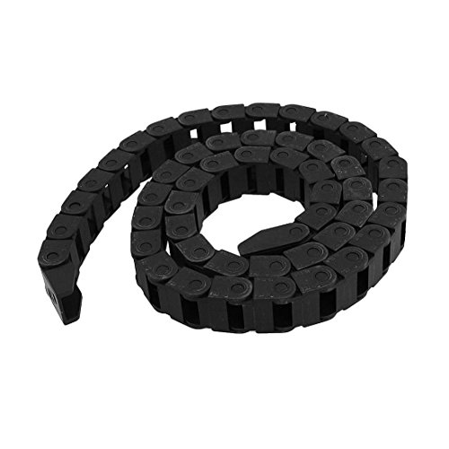 Cable Carrier Drag Chain Semi Enclosed Type Plastic Towline Machine Tool Nested (10 x 15mm)