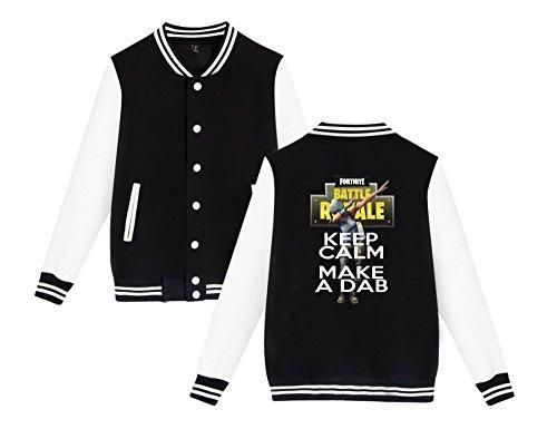 Stampate Black2 Da Unisex Comode Aivosen E Sweatshirts Casual Fortnite Allentato Moda Per Leggera Donne Uomini Giacca Baseball X0qwHxq
