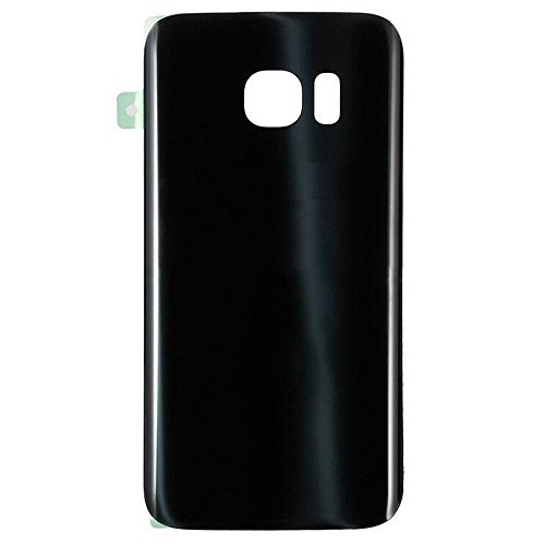 Walking Slow-NO Logo Back Glass Replacement for Samsung Galaxy S7 Edge G935(All Carriers) Rear Cover Glass Panel Battery Door Housing with Adhesive Preinstalled Repair Part (Black)