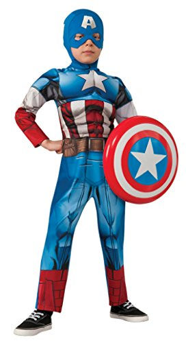 Boys Capt America Kids Child Fancy Dress Party Halloween Costume M 810