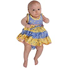 Laura Dare Baby Girls Buttercup Frilly Itsy Bitsy Jumpsuit Onesie