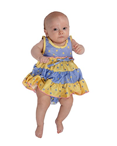 Girlie Baby Doll Shirt - Laura Dare Baby Girls Buttercup Frilly Itsy Bitsy Jumpsuit Onesie, 6m
