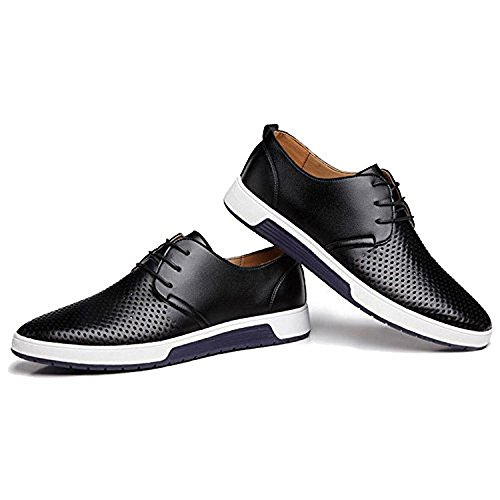 Black11 Casual Shoes Mens Fashion Oxford Breathable Sneakers Flat CAIHEE RTvqZ