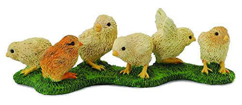 CollectA Farm Life Chicks on Grass Miniature Toy Figure - Authentic Hand Painted Model