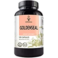 Goldenseal 100 Capsules 700 mg | Filled with Goldenseal Root | Woman's Health Supplement | Gluten Free | Non-GMO