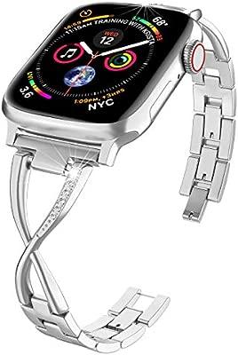 PUGO TOP Correa de Acero Inoxidable Compatible Apple Watch Band Series 4 40mm 44mm Serie iWatch 3 2 1 38mm 42mm Accesorios Pulsera de Metal Pulsera ...