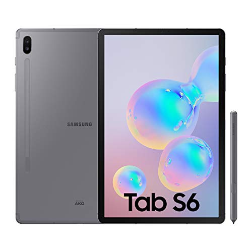 Samsung Galaxy Tab S6 Tablet de 10.5″ (128 GB, S Pen Incluido, Pantalla sAMOLED, WiFi), Gris
