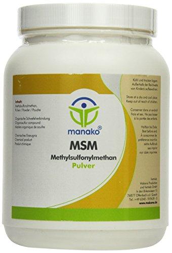 Manako MSM Methylsulfonylmethan 1000 g Dose Mensch, 1er Pack (1 x 1 kg)
