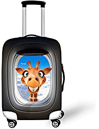 Funny Animals Print Travel Suitcase Protective Covers for 18
