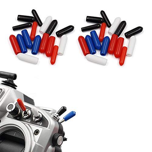 elechawk 32Pcs Anti-Slipping Switch Rubber Cap for FrSky FS-i6 Flysky Switch Sheath Cover