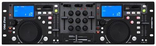 PYLE-PRO PDJ480UM Rack Mount Professional Dual DJ Controller with Scratch, Loop, Mixer, USB and SD Card Player (Digital Dj Mixer)