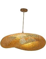 gazechimp Bamboo Weaving LED pendant light, candelabro suspenso de cozinha lâmpadas de teto para bar casa de chá decoração de quarto