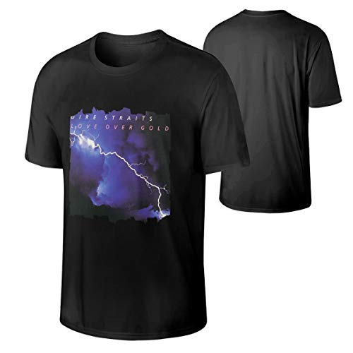 Men Dire Straits Love Over Gold Fashion Music Band Short Sleeves Tee Gift XXL