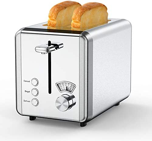 Toasters 2 Slice Best Rated Prime,whall Stainless Steel,Bagel Toaster - 6 Bread Shade Settings,Bagel/Defrost/Reheat/Cancel Function,1.5in Wide Slots,Removable Crumb Tray,for Various Bread Types (850W,Sliver)