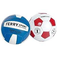 Sans Marque - Mini Balle Cuir Foot Ou Volley Modèle Aléatoire
