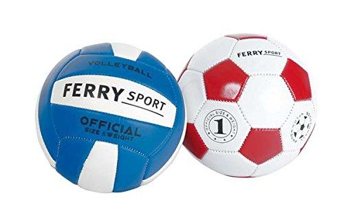 Sans Marque - Mini Balle Cuir Foot Ou Volley Modè le Alé atoire A132018