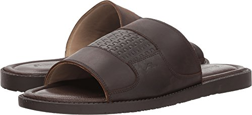 Tommy Bahama Men's GENNADI Palms Slide Sandal, Brown, 13 D US