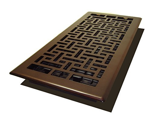 Decor Grates AJH614-RB Oriental Floor Register, 6-Inch by 14-Inch, Rubbed Bronze by Decor Grates by Decor Grates