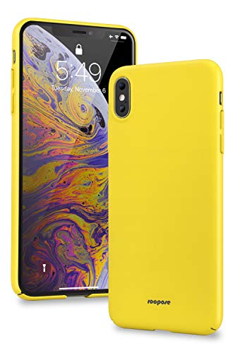Roopose for iPhone Xs Max Case,Slim Fit Ultra Thin Hard PC Matte Basic Minimalist Cover Anti-Scratch Anti-Fingerprint Case for iPhone Xs Max 6.5 inch (2018) -Yellow