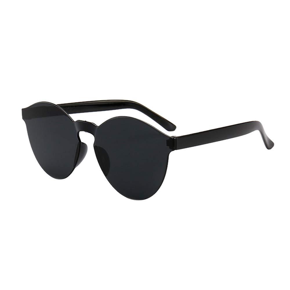 Sunglasses for Women Men, JOYFEEL Retro Clear Lens Frameless Eyewear Lightweight Summer Fashion Outdoor Glasses Black