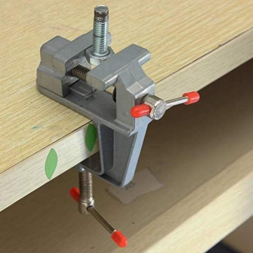 ミニチュア小さなベンチバイス、表ベンチバイスツールの30mmのミニアルミベンチバイス宝石趣味クランプ