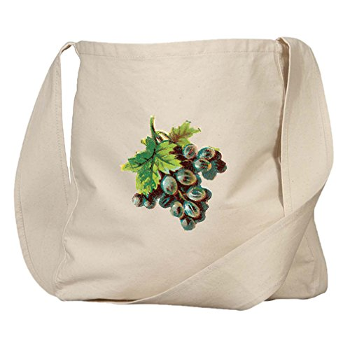 Market Bag Organic Cotton Canvas Black Grapes Vintage Look By Style In ()
