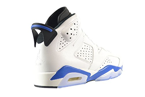AIR JORDAN 6 RETRO 'SPORT BLUE' - 384664-107 - SIZE 8