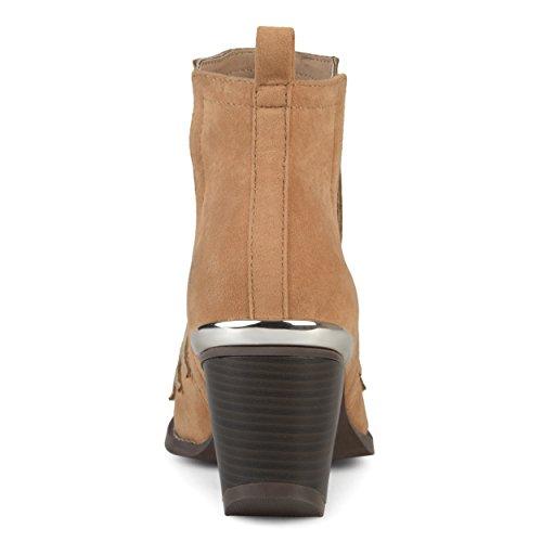 Brinley Co Womens Stivaletti Con Due Tasche Laterali In Pelle Scamosciata Western Color Talpa