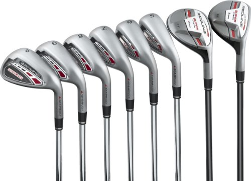 Adams Golf Redline 3-4H 5-PW Irons – Set of 8 Clubs (Right, Steel, Stiff), Outdoor Stuffs
