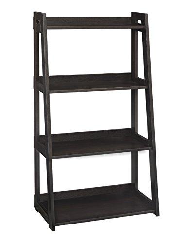 ClosetMaid 3313 No-Tool Assembly Ladder Shelf, Wide 4-Tier, Black Walnut ()