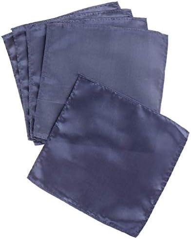 スーツポケット タオル ハンカチ スクエア シルク 5枚 5色選べ