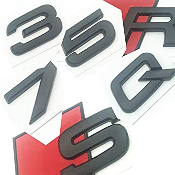 "For AUDI Glossy Black /""SQ5/"" Letters Emblem Car Trunk Badge Sticker Decal Logo"
