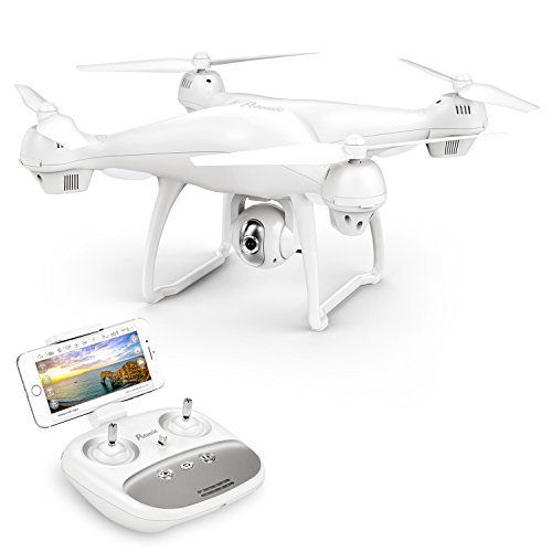 41NcFv0DppL. SS500 【Vuelo Asistido por 2 Modos GPS】integrado GPS y GLONASS sistema de posicionamiento, le proporciona detalles de posicionamiento precisos de su Drone con camara HD. Construido en la función Return-to-Home (RTH) para un dron más seguro, el dron regresará automáticamente a su hogar precisamente cuando la batería está baja o la señal es débil cuando vuela fuera del alcance, sin preocuparse por perder el dron. 【Cámara Wi-Fi FPV 1080P 120 ° FOV Optimizada】drone camara angulo ajustable de 90 °, captura videos y fotos de alta calidad. Puede disfrutar de la visualización en tiempo real directamente desde su teléfono(Después de conectar wifi). Ideal para realizar selfie, capturando cada momento desde una perspectiva de pájaro. 【Modo Sígueme】el RC drone lo seguirá automáticamente y lo capturará donde sea que se mueva. Manteniéndolo en el marco en todo momento, más fácil de obtener tomas complejas, proporciona vuelo manos libres y autofoto. drone económico con GPS