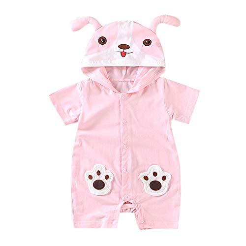 Baby Clothes Set, Boys Girls Cartoon Bear Romper Infant Hooded Romper Infant Hooded Jumpsuits Pink