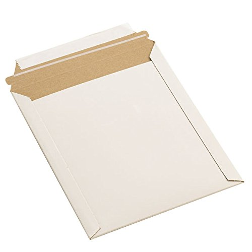 TheBoxery Flat Shipping Mailers - White 12.75x15'' 100/cs