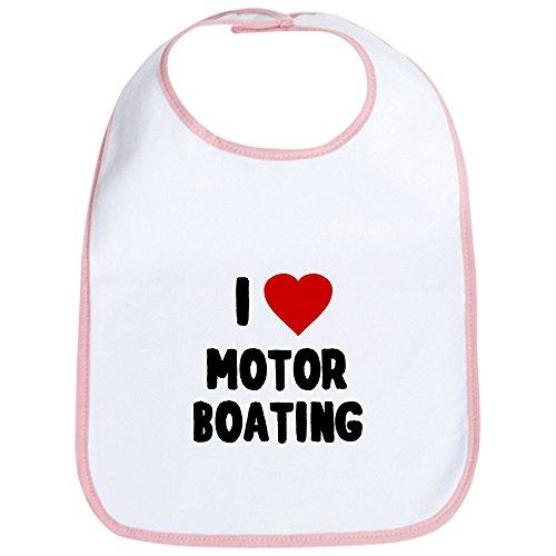 CafePress - I Love Motor Boating Bib - Cute Cloth Baby Bib, Toddler ()