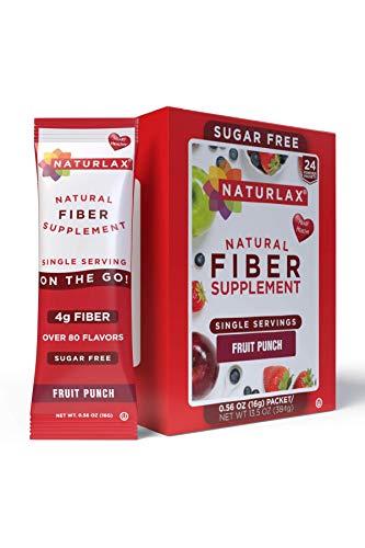 Naturlax Fruit Punch Flavored Psyllium Husk, 24 Fiber Packets