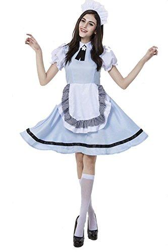 Deluxe Beer Wench Costume (Halloween Deluxe German Oktoberfest Cute Beer Girl Servant Maid Costume (XL))