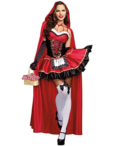 Dreamgirl Women's Little Red Riding Hood Costume, X-Large, - Sexy Costumes
